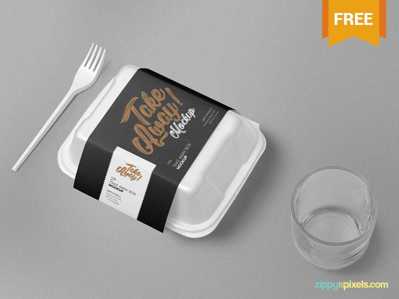 Download Free Disposable Food Packaging Mockup Desain Produk Desain Kemasan Kemasan