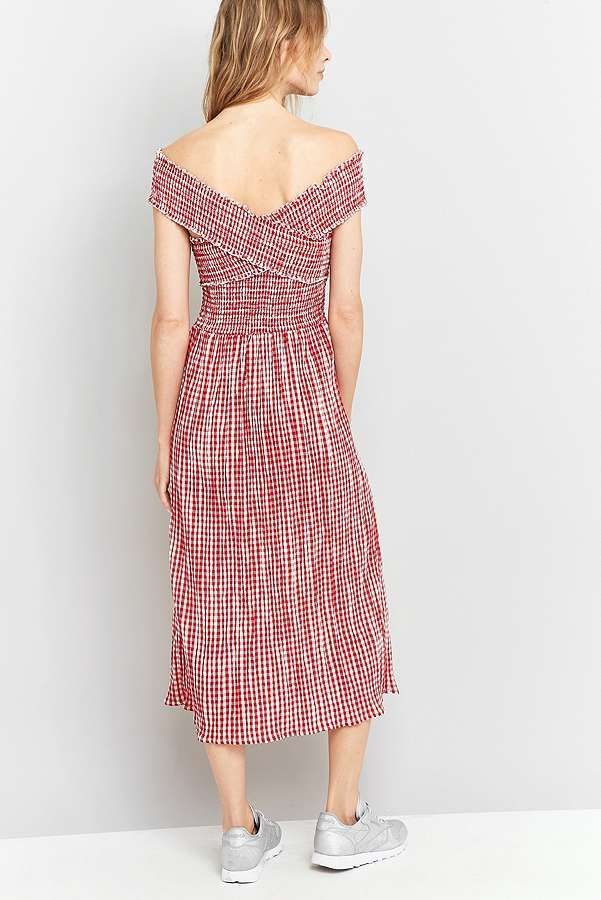 Pins And Needles Clothing Pins & Needles Gingham Picnic Midi Dress  Gingham Picnics And Midi