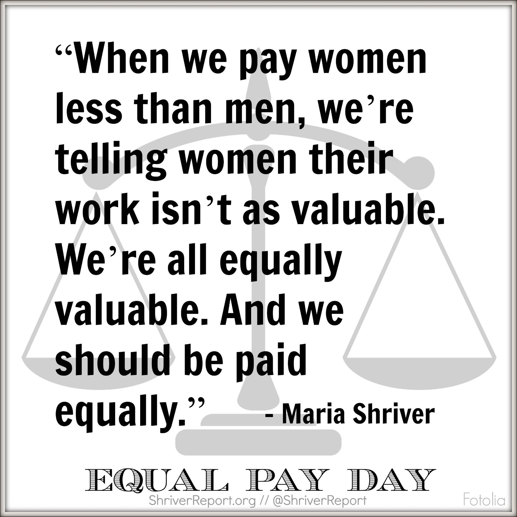 Today Is Equal Pay Day We Can All Work Harder To