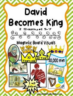 Cathy S Corner David Becomes King Bible Lessons For Kids David