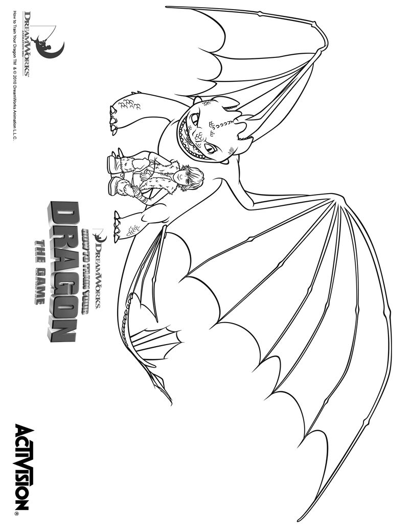 How To Train Your Dragon Hiccup And Fury Coloring Page Printables