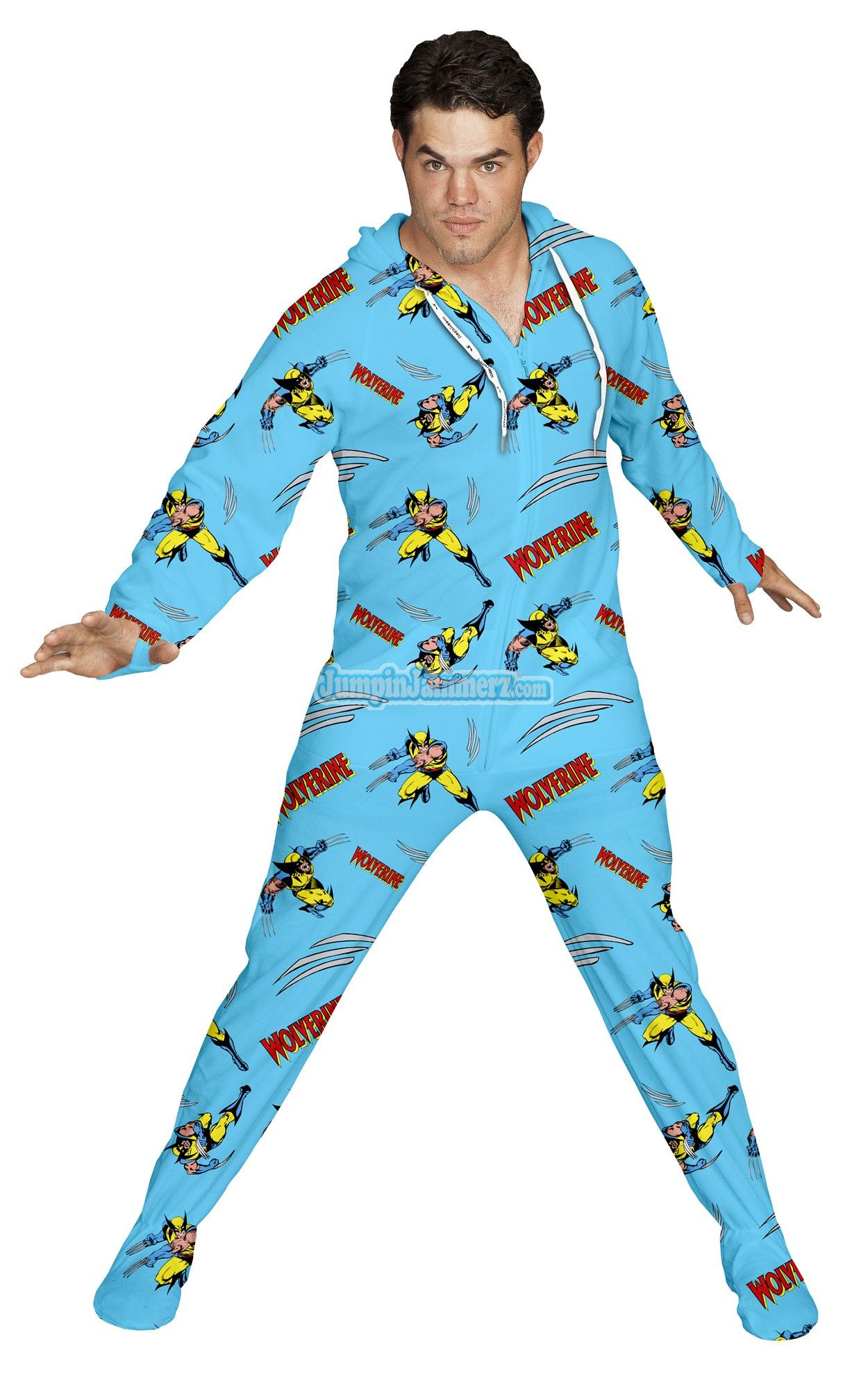 Official Wolverine Footed Hooded Pajamas! Loaded with ...