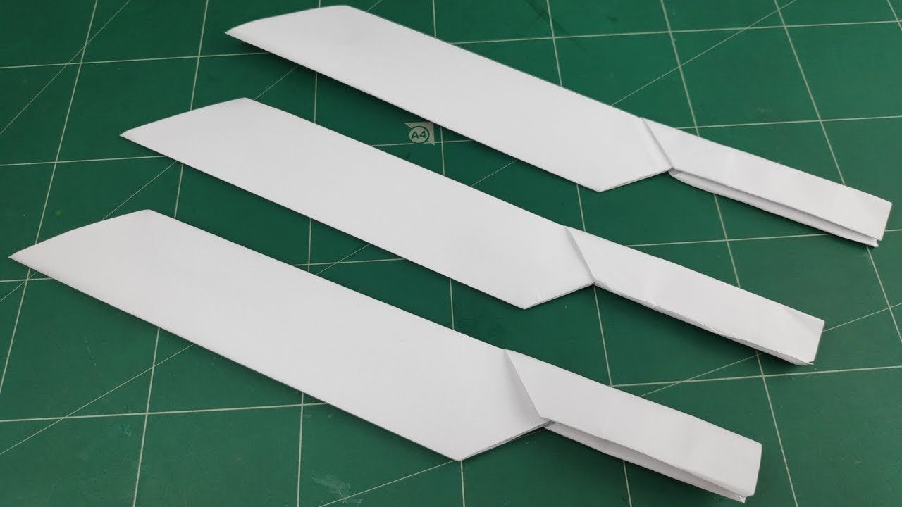 How To Make Paper Knife Weapons Tutorials Origami Craft Ideas