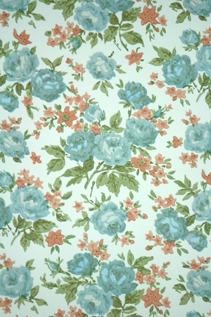 Fifties Floral Wallpaper Original Vintage Fifties Floral