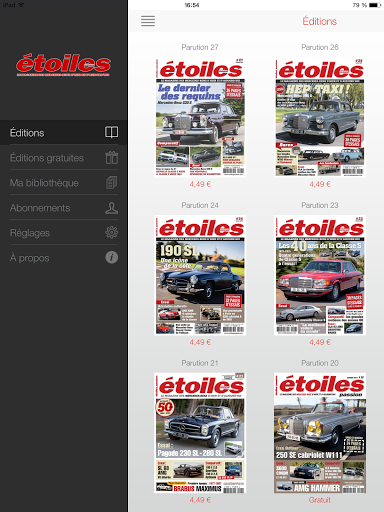 Etoiles Passion Magazine présente chaque trimestre l'histoire de la marque Mercedes-Benz, l'actualité, des essais de modèles modernes et anciens, les compétitions actuelles et d'hier, pilotes, ingénieurs et designers.  http://Mobogenie.com