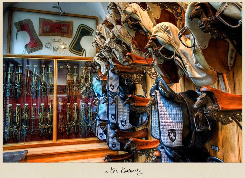 Saddle room at the Spanish Riding School, Vienna, Austria Photo ...