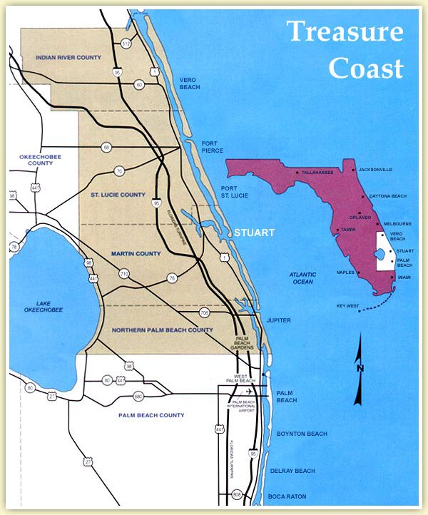treasure coast zip code map Map Of Florida Showing Treasure Coast Google Search Treasure