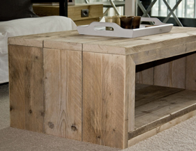 coffee table of recycled wood things to make from