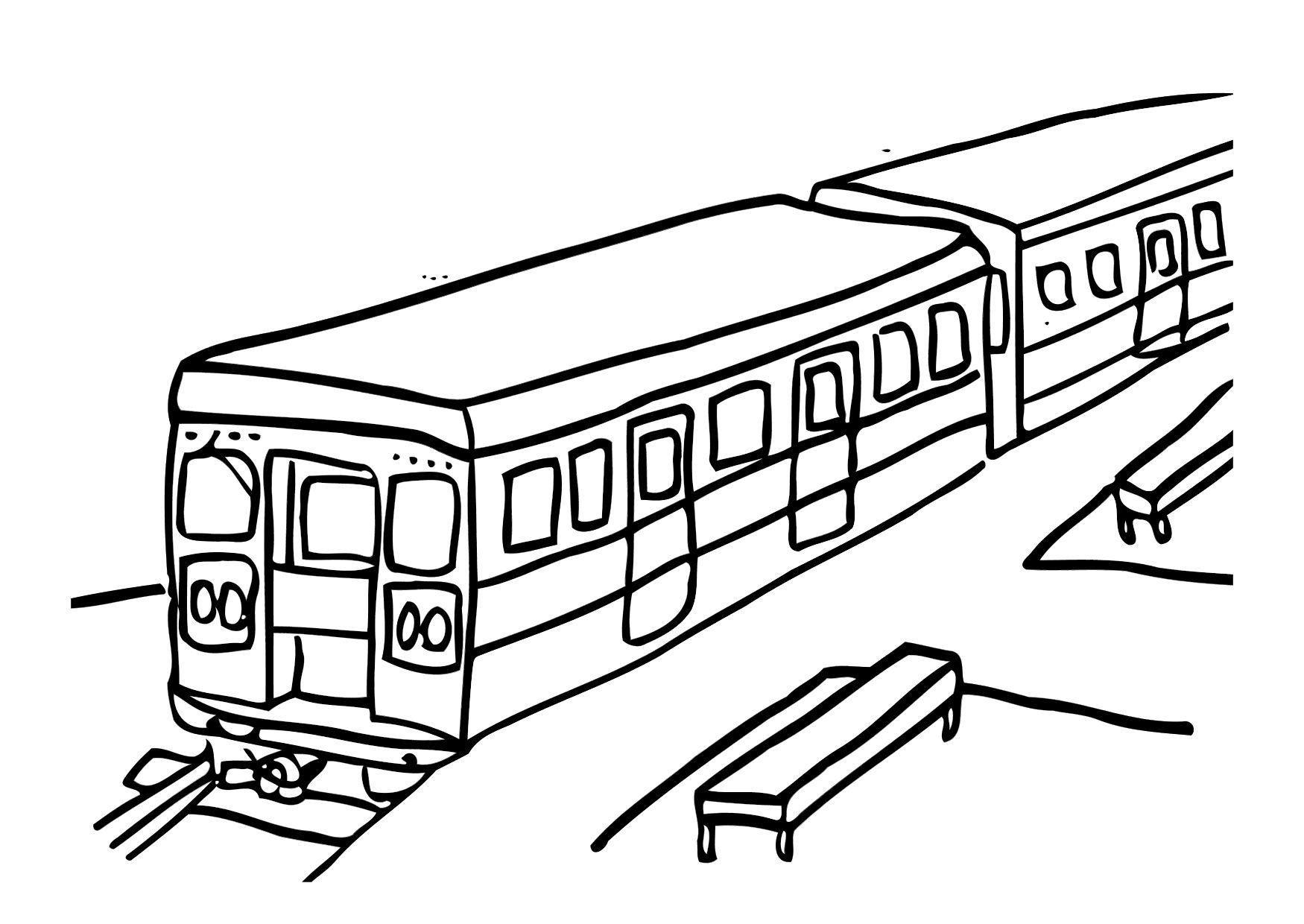 coloriage train i (Dengan gambar)