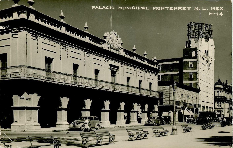 Monterrey Capital Del Estado De Nuevo León México Antiguo Palacio Municipal En El Cruce De Las Calles Ignacio Zarag Fotos De Monterrey Fotos Antiguas Palacios