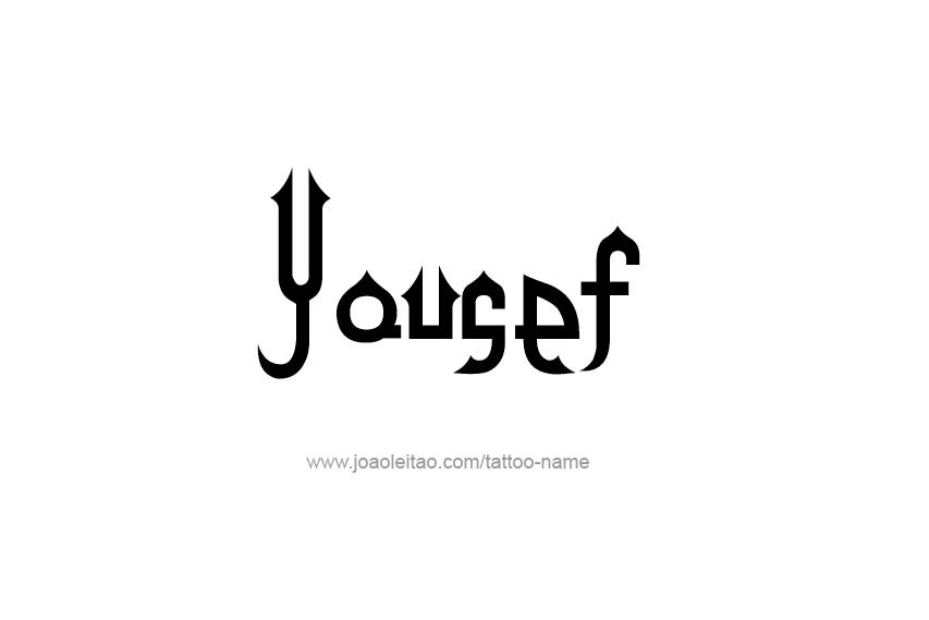 Yousef Tattoo Font