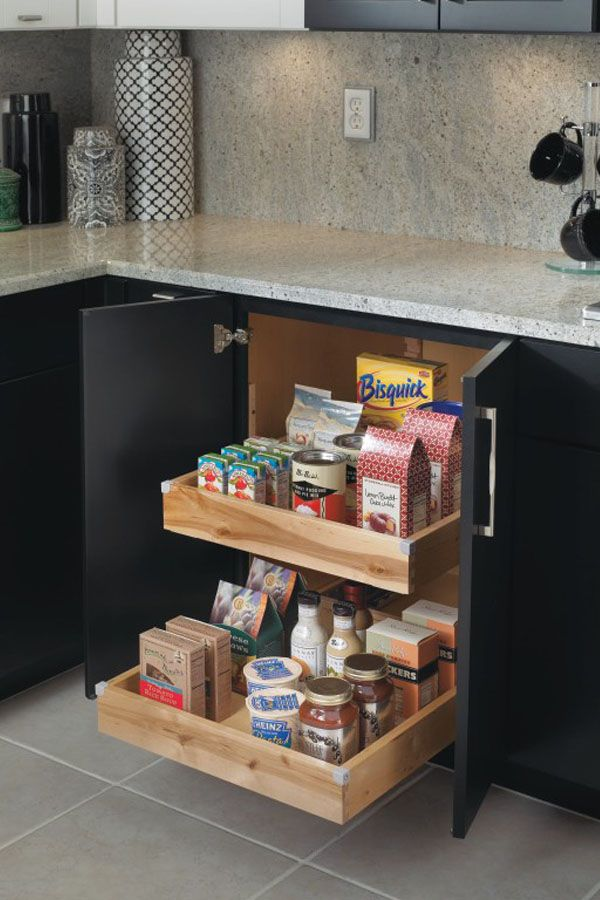 Keep Storage Simple Using Our Base Cabinet With Convenient Roll Trays That Pull  Out For Easy