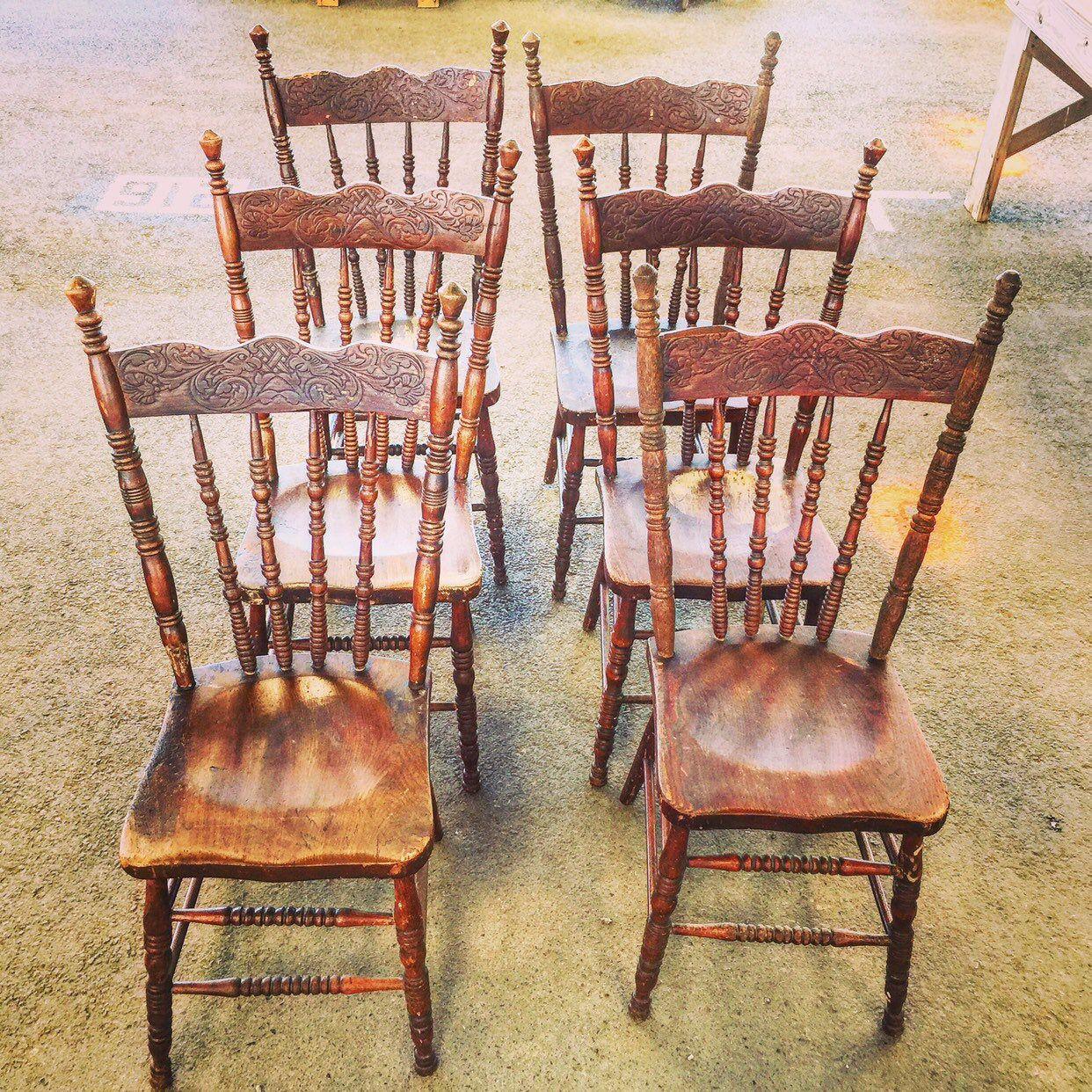 Farm chairs oak press back chairs farm table chairs