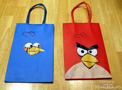 Diy Angry Birds Goody Bag Tutorial I Like This One The Best So Far Angry Birds Party Bird Theme Parties Bird Party