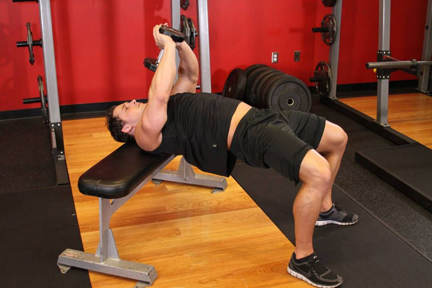 Bent-Arm Dumbbell Pullover | dumbell exercises | Pinterest ...