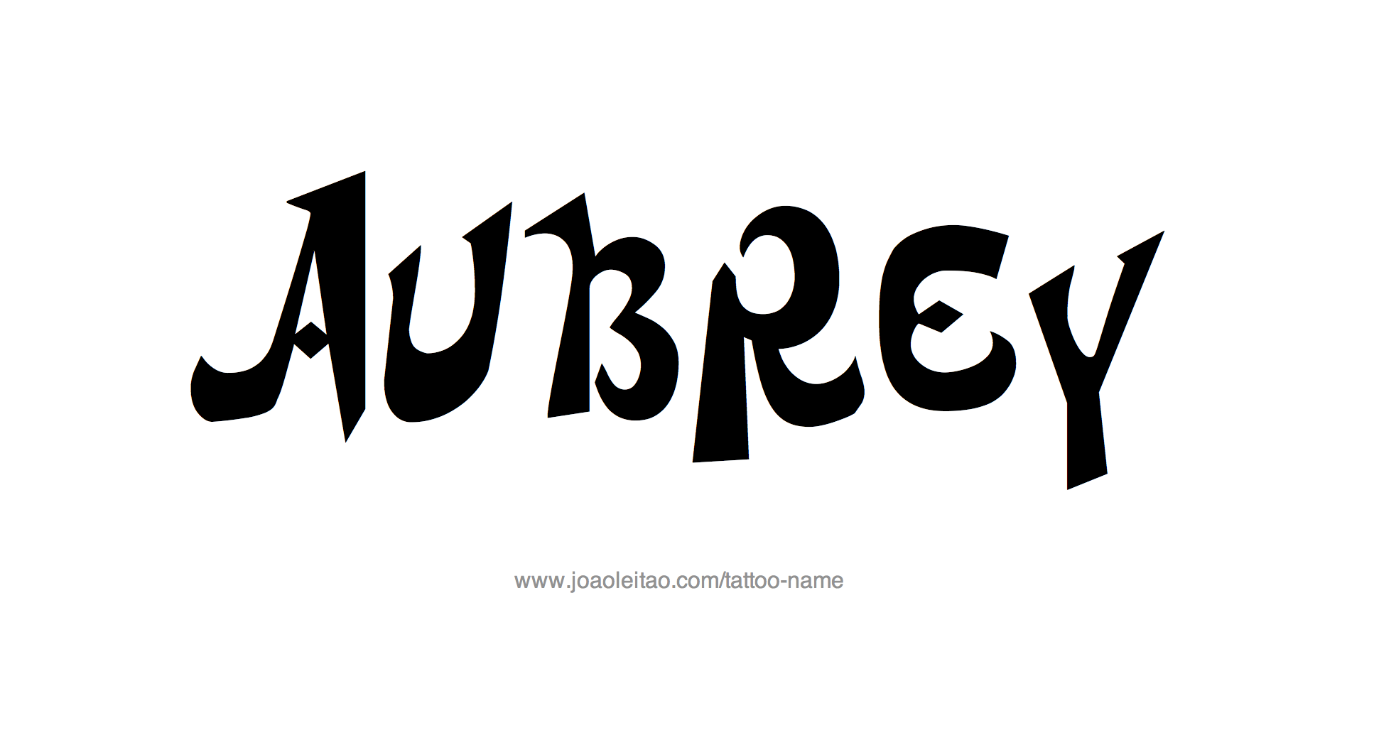 ab5171f55a442 Aubrey Name Tattoo Designs | I must try these | Name tattoo designs ...
