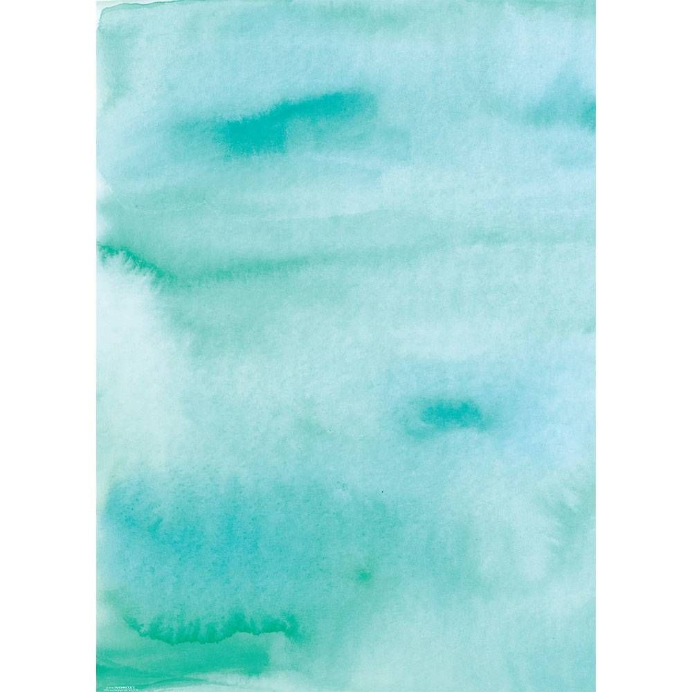 Aqua Watercolor Wrapping Paper Gift Wrapping Paper Wrapping