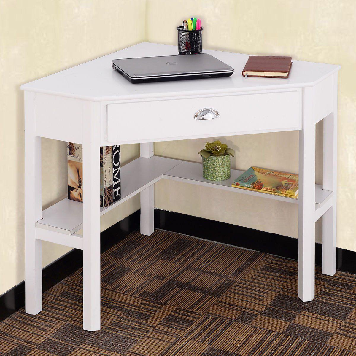 Costway Corner Computer/Laptop/Writing Desk | Corner ...