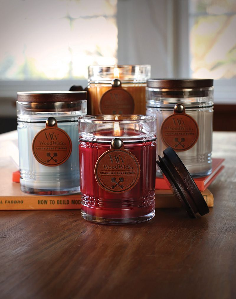 Crackling tobacco wood candle wood candles wood wick