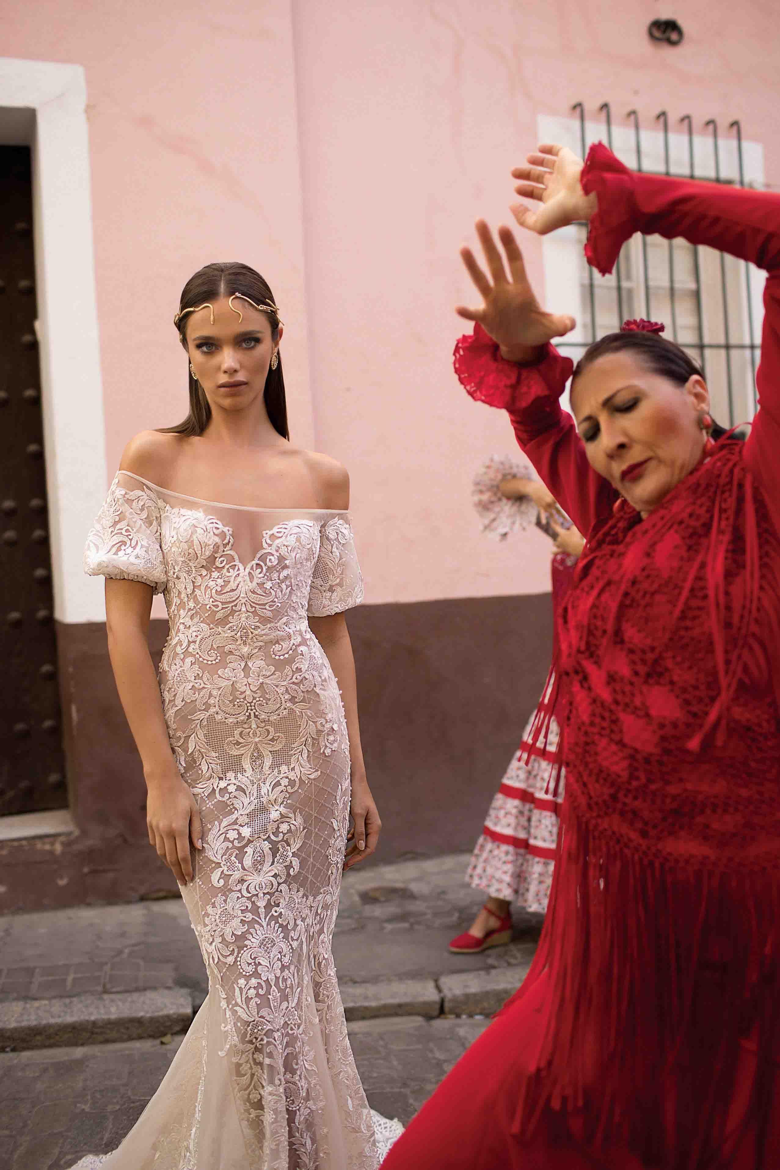 Perfecto Vestido De Novia De Encaje Berta Cresta - Colección de ...