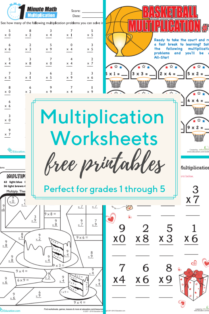 Multiplication Worksheets and Printables   These multiplication worksheets  cover everyt…   Multiplication worksheets [ 1102 x 735 Pixel ]