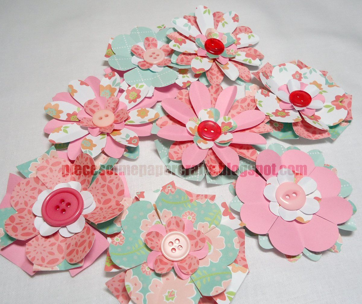 Flowers Made Out Of Scrapbooking Paper Started Making Paper
