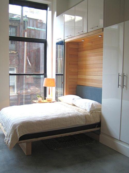 Murphy bed entre armarios de ikea hidden bed cama - Armario cama ikea ...