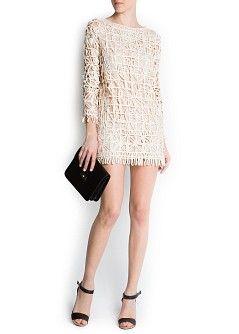 MANGO - 세일 - 드레스 - 리본 네트 드레스