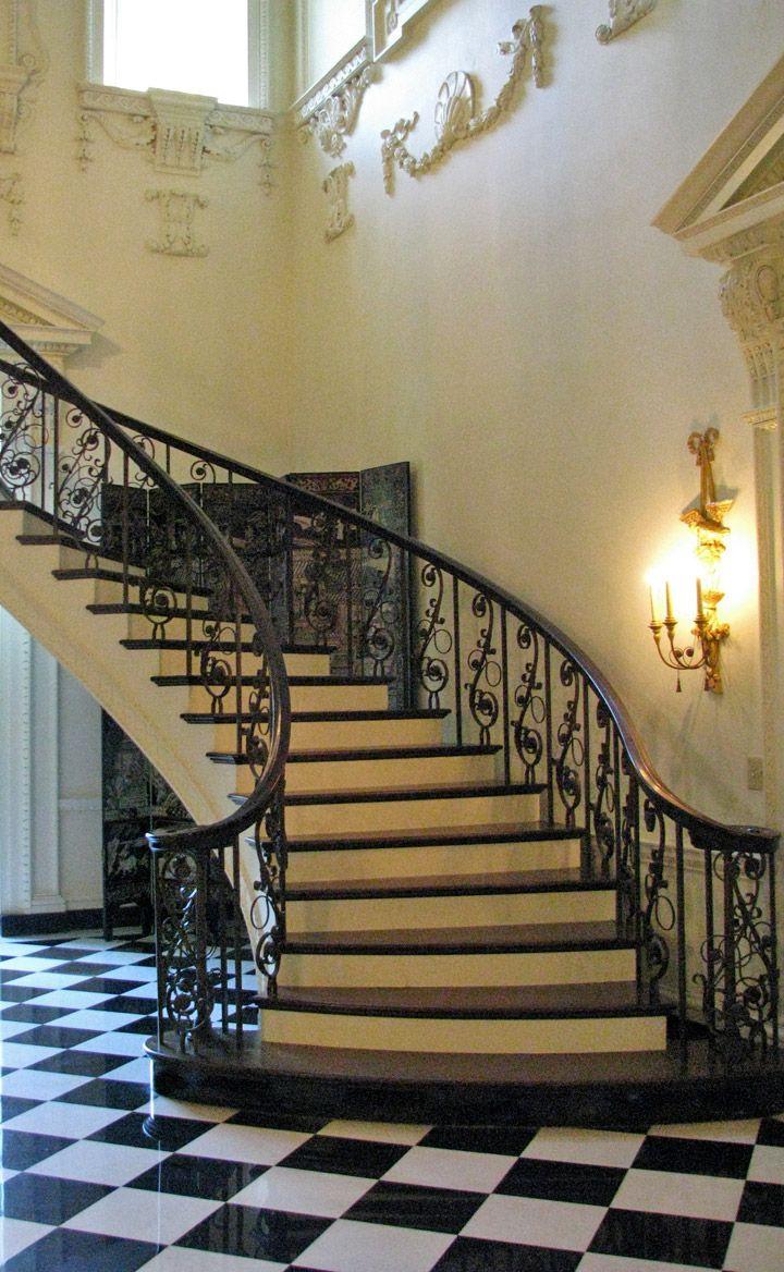 Spiral Staircase. Swan House, Historic Atlanta, Georgia   Travel Photos By  Galen R