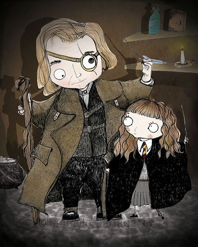 Mad Eye Moody and Hermione - Illustration - by Rachelle ...