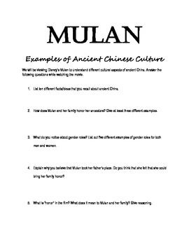 Worksheets Mulan Worksheet this worksheet goes along with disneys mulan students review examples and ideas of ancient china