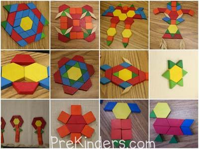 Teaching Shapes in Pre-K Pattern blocks, Teaching shapes and Math - pattern block template