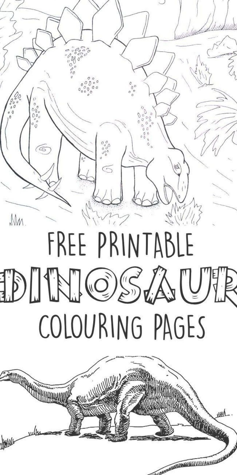 Print These Free Dinosaur Colouring Pages To Keep Your Little Dino Lover Entertained Today I Have A Free Malvorlage Dinosaurier Malvorlagen Kinder Dinosaurier