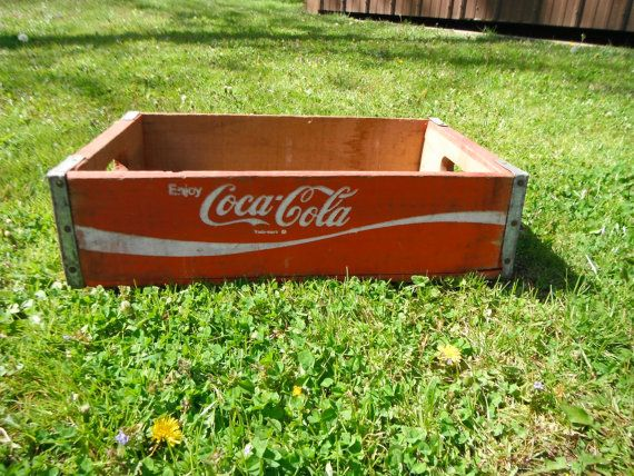 Vintage Wooden Coca Cola Soda Crate by PiecesOfPastimes on Etsy