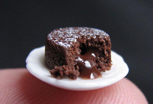 12th Scale Chocolate Lava Cake Lava Cakes Polymer Clay Cake Chocolate Lava Cake