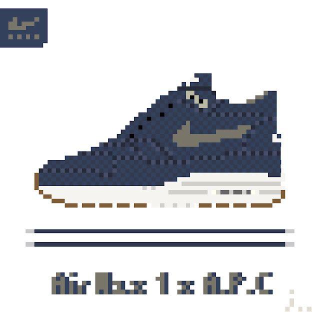 A P C X Nike Air Max 1 Pixel
