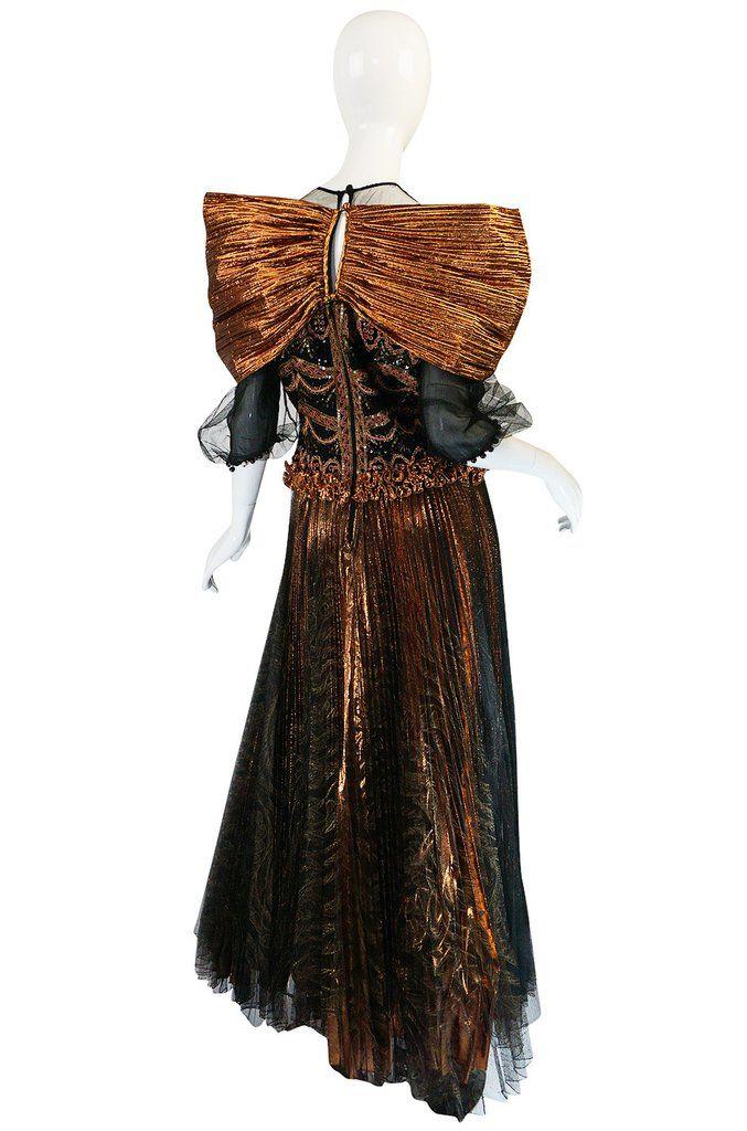 "A/W 1981 Zandra Rhodes ""Elizabethan Collection"" Lame Gown"