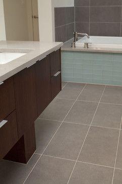 Bath Surround And Tile Floor 29Th  Wooldridge  Modern  Bathroom Extraordinary Flooring For Bathrooms Inspiration Design