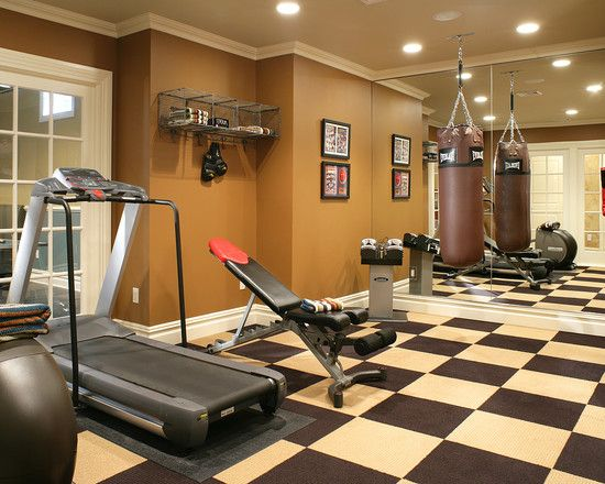 Home Gym Industrial Boxing Gym Design Pictures Remodel Decor