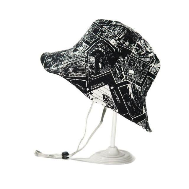 Photo of Anime PIECE Hat Cartoon Shading Fishing Hat – black