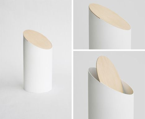 Designer Bathroom Bins swing bin from designer shigeichiro takeuchi -- beautifully