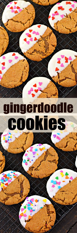 Chewy Gingerdoodle Cookies whitechocolate snickerdoodle