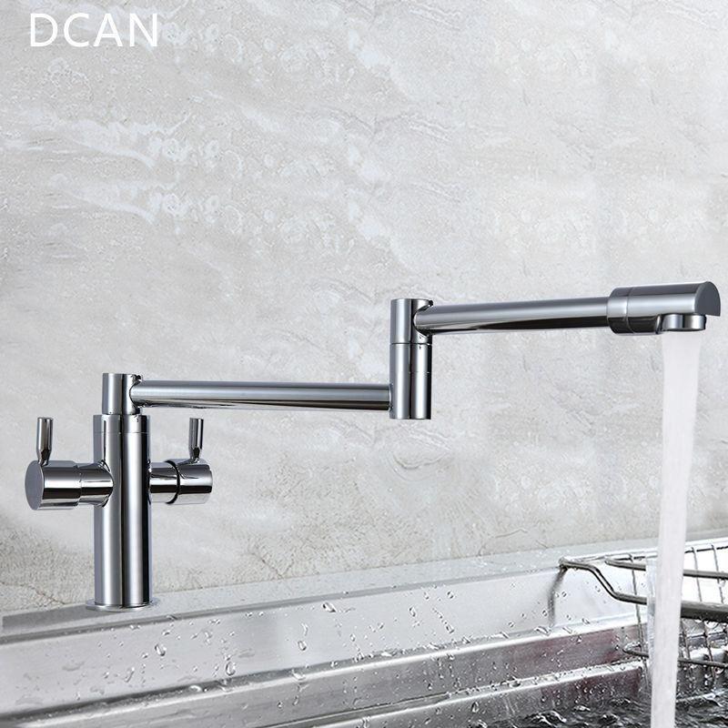 Buy DCAN Kitchen Faucets Kitchen Sink Faucets Dual Handle Mixer Tap ...