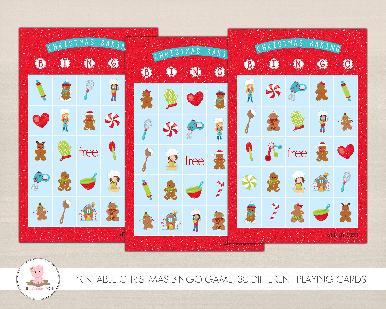 Christmas Baking Bingo Game Printable Christmas Games