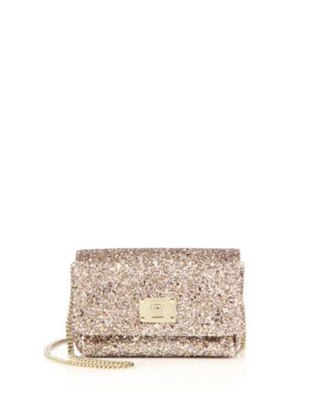 38b5ce784b Jimmy Choo - Ruby Glittered Textile Chain Crossbody Bag ...