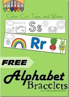 FREE Alphabet Bracelets | Pinterest | Alphabet, Vorschule und Kind