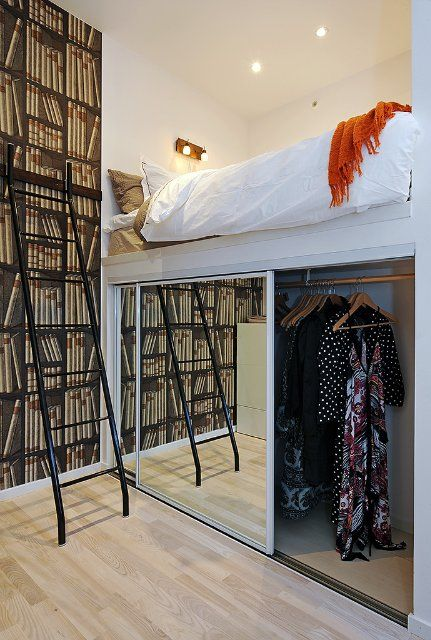 Closet under the bed Interior Pinterest Bedrooms, Lofts and Room