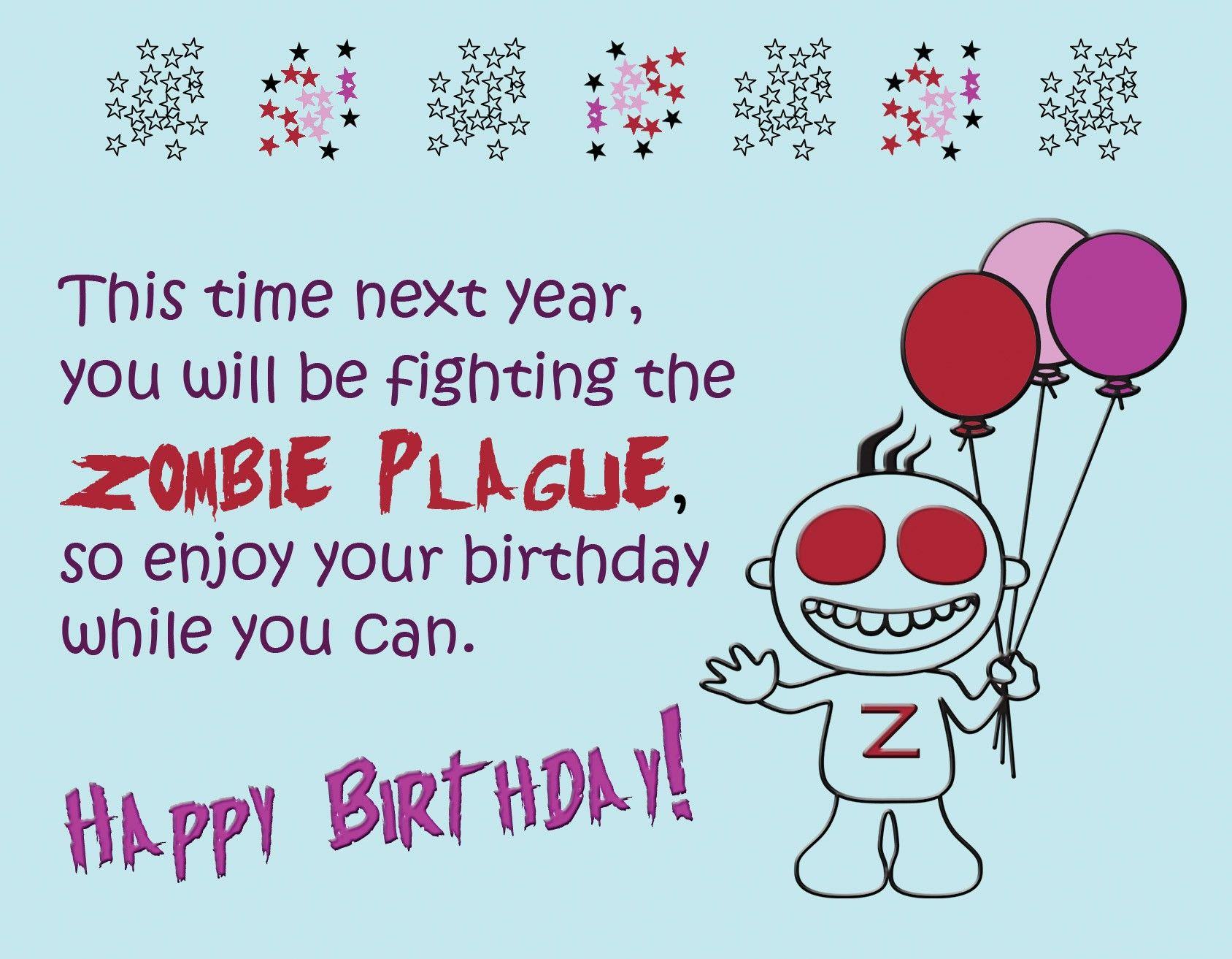 Zombie birthday card my birthday pinterest birthdays zombie birthday card kristyandbryce Choice Image