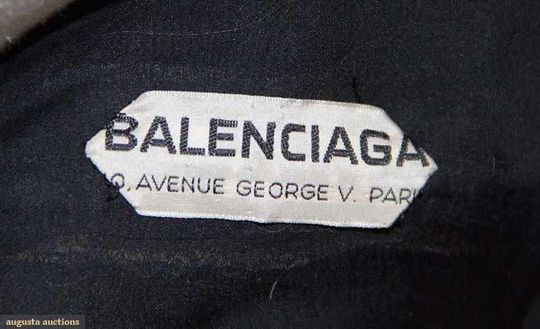 fashion pretty cheap finest selection BALENCIAGA COUTURE DRESS LABEL 1950S | Printing labels ...