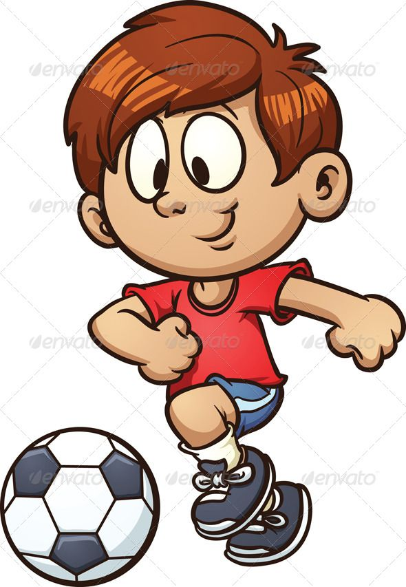 Soccer Kid Cartoon Kids Kids Soccer Cartoon
